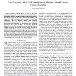 استفاده از شبیهسازی متلب در آموزش دورۀ نظریۀ کنترل مدرن