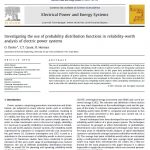 بررسی استفاده از توابع توزیع احتمال در تجزیه و تحلیل ارزش قابلیت اطمینان سیستمهای قدرت