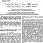 اینورتر CHB هفت سطحی منبع دی سی واحد با PMW سطح متغیر چند حامل