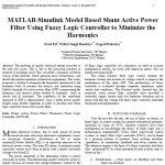 مدل MATLAB-SIMULINK بر اساس کنترلر منطق فازی فیلتر توان اکتیو موازی برای کاهش هارمونیک