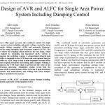 طراحی AVR و ALFC برای سیستم قدرت تک ناحیه ای شامل کنترل میرایی