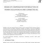 طراحی جبران کننده برای کاهش نوسانات توان در شبکه متصل به DG