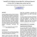 شبیه سازی رفتارهای گذرا ماشین آلات D.C.: آموزش و تحقیقات