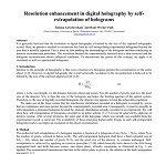 افزایش وضوح در هولوگرام دیجیتال توسط برون یابی خود هولوگرام