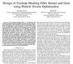 طراحی فیلتر ماسک غیر واضح مرکزی و گین با استفاده از بهینه سازی ازدحام ذرات